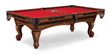 Western Kentucky Hilltoppers Pool Table