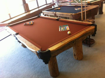 Ponderosa Log Pool Table