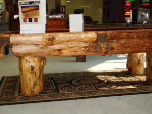 side view of log table