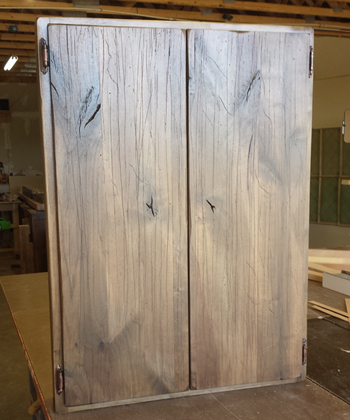 silver barn wood stain on Alder
