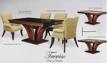 treviso dining and poker table