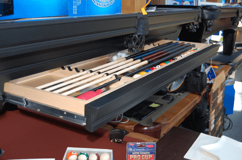 Pool Tables with Drawers