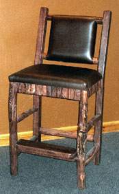 rustic hand crafted chairs
