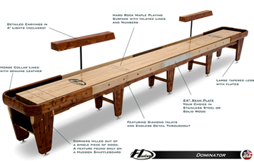 dominator shuffleboard table