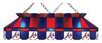 Atlanta Braves Stained Glass Shade Pool Table Lights
