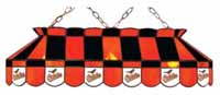 Baltimore Orioles Stained Glass Shade Pool Table Lights