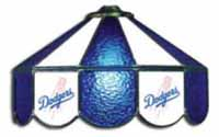 LA Dodgers  Three Lamp Pool Table Lights
