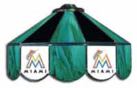 Miami Marlins Three Lamp Pool Table Lights