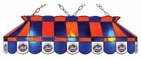 New York Mets Stained Glass Shade Pool Table Lights