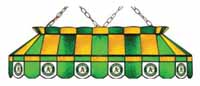 Oakland Athletics Stained Glass Shade Pool Table Lights