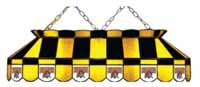 Pittsburgh Pirates Stained Glass Shade Pool Table Lights
