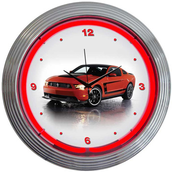 Ford Mustang Boss 302 Neon Clock