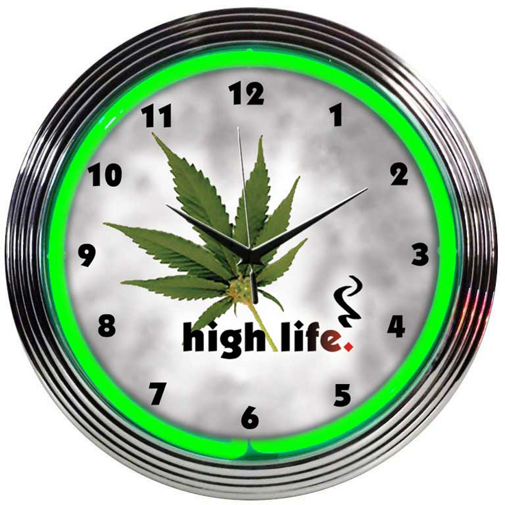 High Life Neon Clock 100 Made In Usa Manufactured By