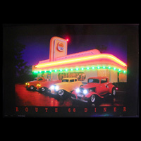 Route 66 Diner Neon