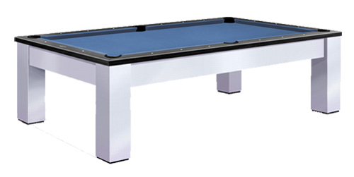 pool table with drawers close up