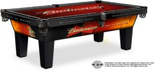 budweiser lamiante pool table