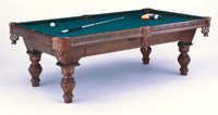 Chelsea Pool Table with Carved legs