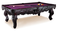 Excalibur fully carved pool table
