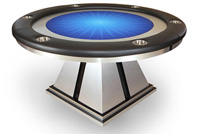 aluminum pyramid poker table