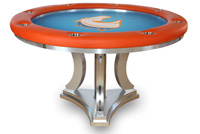 Falcons custom poker table