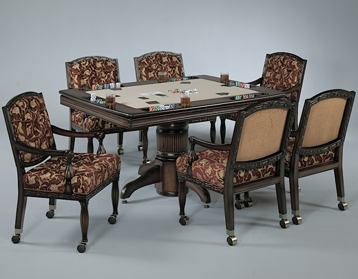 combination poker table and dining table