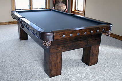 Phenomenal American Pairie Rustic Pool Table Solid Wood Beutiful Home Inspiration Xortanetmahrainfo