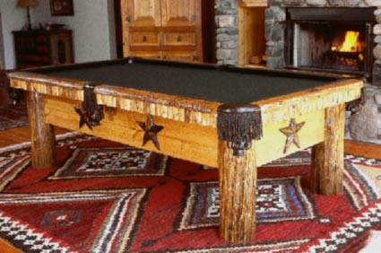 Lone Star Rustic Timber And Log Pool Table