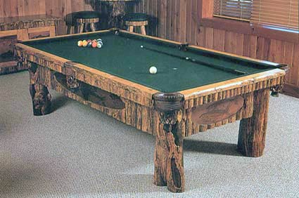 bitteroot pool table with art inset